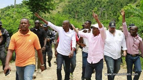 PHOTO: President Jovenel Moise visite ville Chantal, Sud Haiti