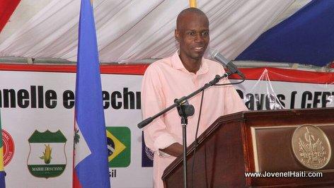 PHOTO: Haiti - President Jovenel Moise, Ceremonie Pose de première pierre CFPTC Les Cayes