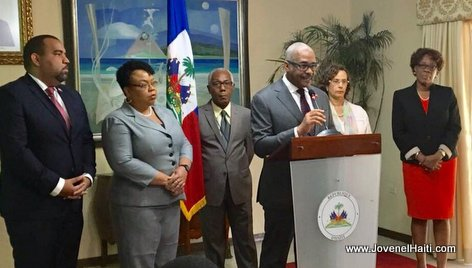 PHOTO: Haiti - Press conference at the Prime Minister's Office regarding the Solar Eclipse Monday...