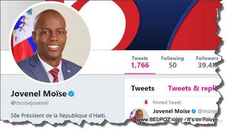 Haiti - President Jovenel Moise on Twitter