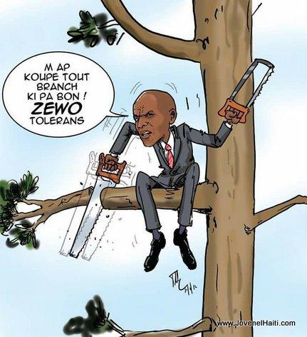 Haiti Caricature: President Jovenel Moise - ZERO Tolerance
