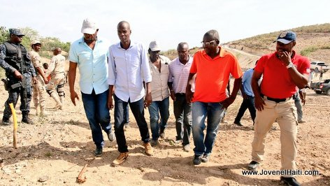 PHOTO: Haiti - President Jovenel Moise visits Road construction works linking carrefour Joffre to Anse-à-Foleur