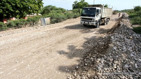 PHOTO: Haiti - Road construction works linking carrefour Joffre to Anse-à-Foleur, Nord-Ouest Haiti