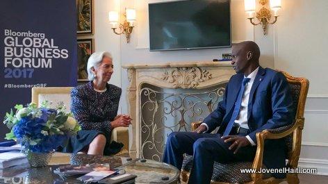 New York: Recontre President Jovenel Moise et Christine Lagarde, la Directrice du FMI