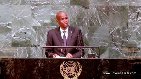 New York: President Jovenel Moise speaking at the 72nd UN General Assembly