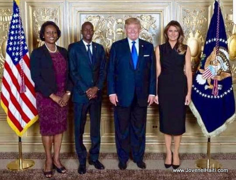 PHOTO: Haiti President Jovenel Moise and US President Donald Trump