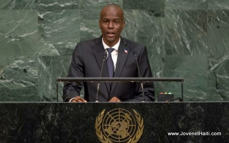 PHOTO: Haiti President Jovenel Moise addresses the general debate of the 72nd Session of the General Assembly