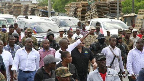 Haiti - President Jovenel Moise à la rue du Champ de Mars