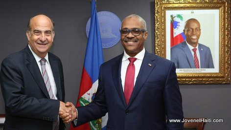PHOTO: Kenneth Merten meets with Haiti Prime Minister Jack Guy Lafontant