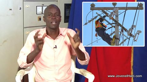 President Jovenel Moise - Pawol Chanjman - Electricité en Haiti 24 sur 24