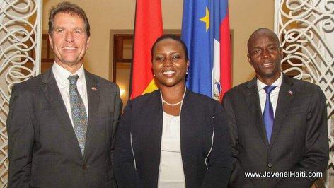 PHOTO: Haiti President Jovenel Moise and German Ambassador Manfred Auster
