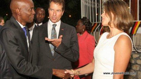 PHOTO: Haiti President Jovenel Moise Celebrates Day of German Unity with German Ambassador Manfred Auster