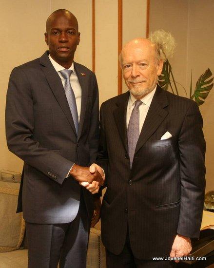 Haiti President Jovenel Moise - Spain Ambassador Manuel Lorenzo Garcia