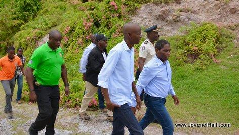PHOTO: Haiti President Jovenel Moise & Depute Patrick Norzeus in Baradères