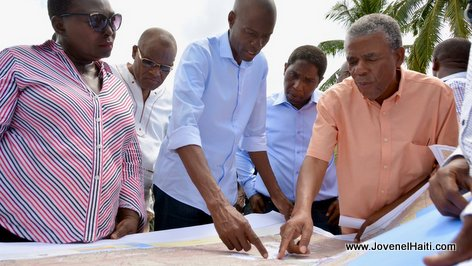 Haiti President Jovenel Moise introduces new infrastructure work in Baraderes, Nippes