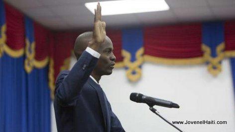 PHOTO: Haiti - President Jovenel Moise Searing in