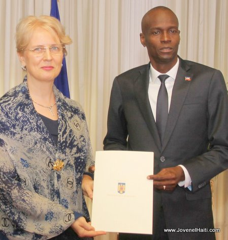Haiti President Jovenel Moise et l'Ambassadeur de la Roumanie en Haiti