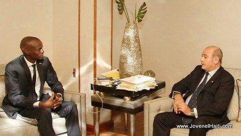 Haiti President Jovenel Moise et l'Ambassadeur sortant d'Argentine en Haiti