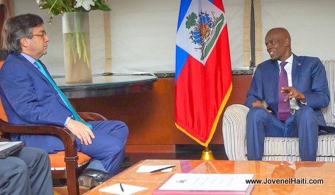 PHOTO: Haiti President Jovenel Moise & Luis Alberto Moreno, President of IDB