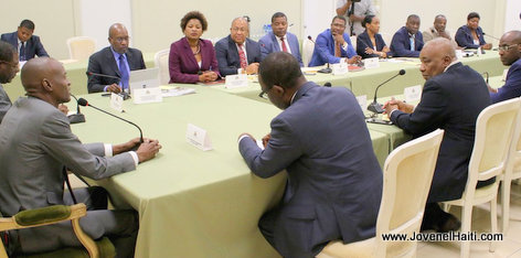 PHOTO: Haiti - President Jovenel Moise, Premier Conseil des Ministres