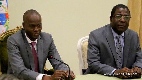 PHOTO: Haiti - President Jovenel Moise, Prime Minister Enex Jean-Charles