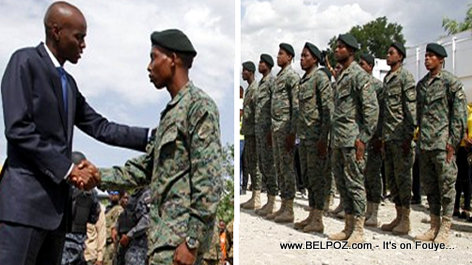 PHOTO: Haiti President Jovenel Moise Salutes the Soldiers of the New Haitian Military