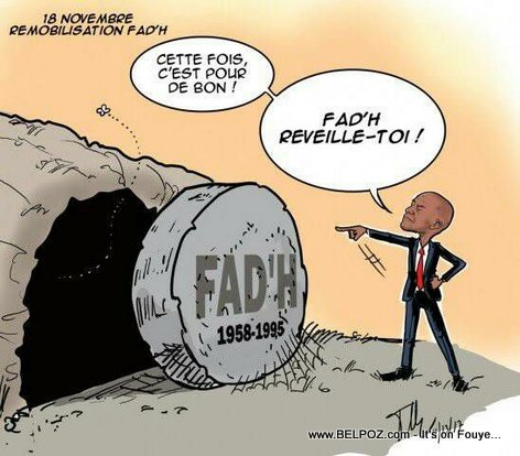 Haiti Caricature - President Jovenel ap ressusciter l'Armée d'Haiti