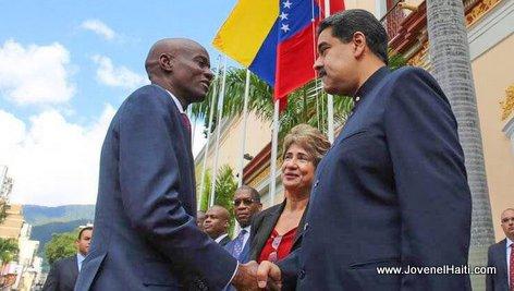PHOTO: Haiti President Jovenel Moise rencontre President Maduro au Venezuela