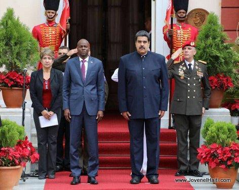 PHOTO: Haiti President Jovenel Moise, Venezuela President Nicolas Maduro