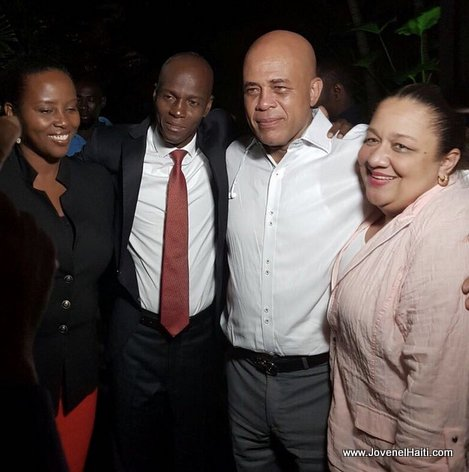 PHOTO: Haiti - Presidents Jovenel Moise, Michel Martelly and the First Ladies