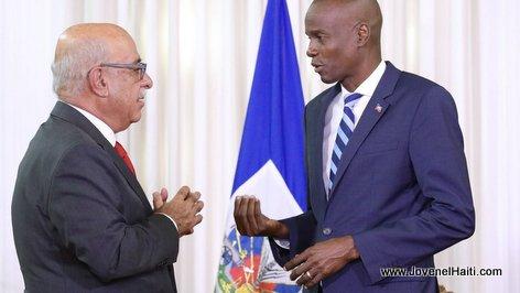 Haiti - President Jovenel Moise avec un Nouveau ambassadeur au Palais National