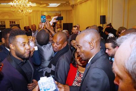 President Jovenel Moise avec la communauté haitienne de Belgique