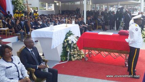 PHOTO: Haiti - President Jovenel Moise nan Funerailles President Rene Preval
