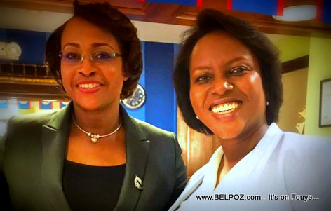 Haiti First lady Martine Moise and Juliet Holness, wife or Jamaican Prime Minister