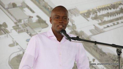 Haiti Industrie - President Jovenel Moise visite les chantiers de la Zone Franche Santo Dujour