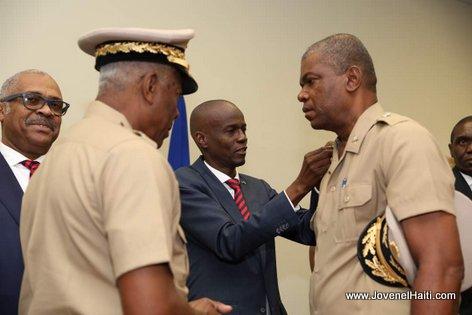 Haiti President Jovenel - Installation du Haut état-major des Forces armées d'Haïti