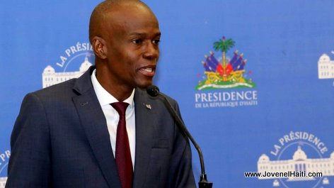 PHOTO: Haiti President Jovenel Moise speaking