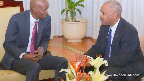 PHOTO: Haiti - President Jovenel Moise, Prime Minister Jack Guy Lafontant