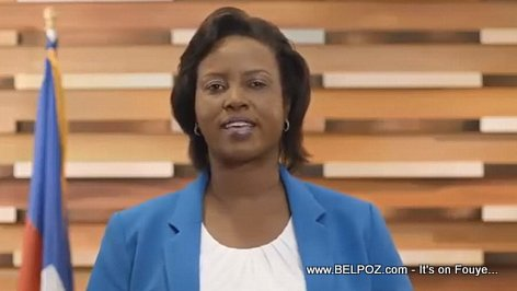 PHOTO: Haiti Premier Dame Martine Moise in a video announcement
