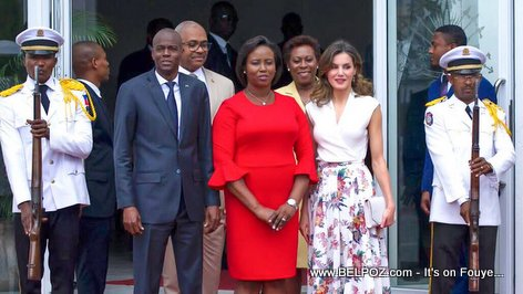 PHOTO: Her Majesty the Queen of Spain, Letizia Ortiz at Haiti National Palace