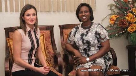 PHOTO: Her Majesty the Queen of Spain, Letizia Ortiz and Haiti first lady Martine Moise