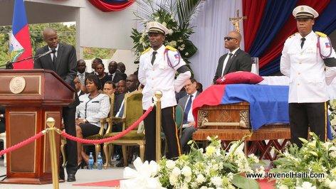 PHOTO: Haiti - President Jovenel Moise nan Funerailles ex President Rene Preval