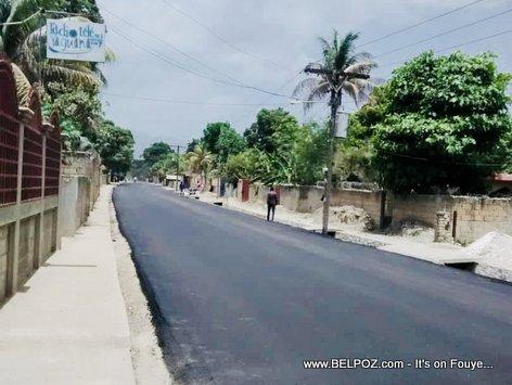 Route de Darbonne Leogane Haiti Road Construction - Caravane Changement