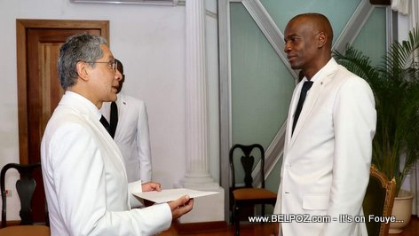 President Jovenel welcomes Hector Manuel Rodriguez Arellano, Ambassador of Mexico to Haiti