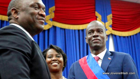 PHOTO: Haiti - President Jovenel Moise, Senator Youri Latortue