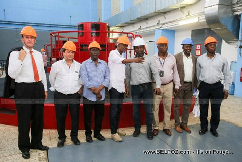 Haiti Electricity - President Jovenel visiting the newly upgraded Peligre Hydroelectric power plant