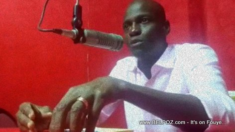 At a radio station in Cap-Haitien, President Jovenel Moise talk about 24-hour electricity and public works in the city