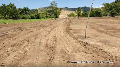 Belladere Haiti - Road Construction begins on the New Bouldvard Leon Dumarsais Estime