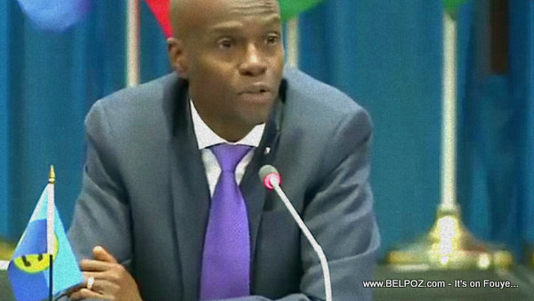 Haitian President Jovenel Moise speaking at 29th CARICOM  Inter-Sessional Meeting