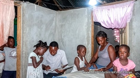 Kay Pam Klere (electricity in my home) - Read the story of beneficiary Frantzy Monfilston, a teacher in Chansolme, Nord-Ouest Haiti